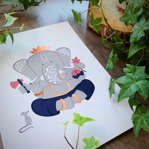 Art Print - Limited Edition Foiled Ganesh #1