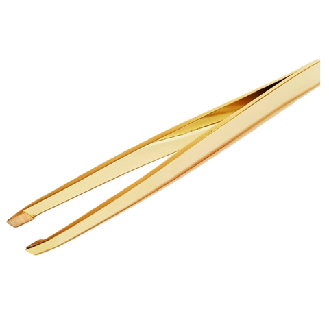 Gold Slanted Tweezers