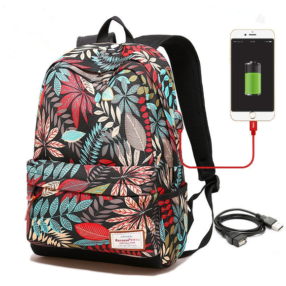 Fashion USB Laptop Rucksack - Travel Bag - Level 1000 // 4 Farben - Eingesackt Germany