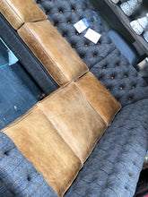 Load image into Gallery viewer, Granby corner leather and harris tweed sofa