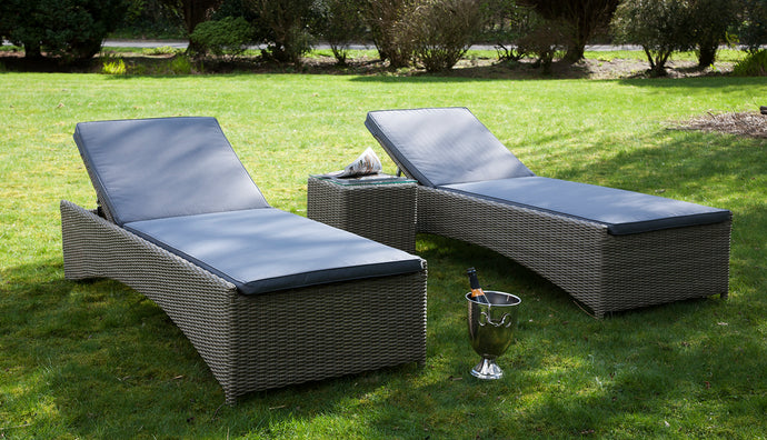 Rattan Sun Loungers Garden Furniture - SOLD OUT