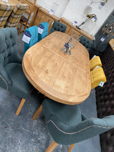 Load image into Gallery viewer, 100% solid oak furniture Dalton Oval Extending Dining Table from Top Secret Furniture