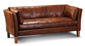 Barton leather 3 seater Sofa
