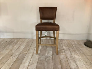 Derry Leather bar stools available from Top Secret Furniture