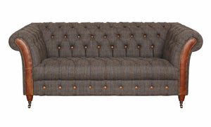 Balmoral 2 seater sofa in Moorland Tweed or Hunting Lodge Tweed