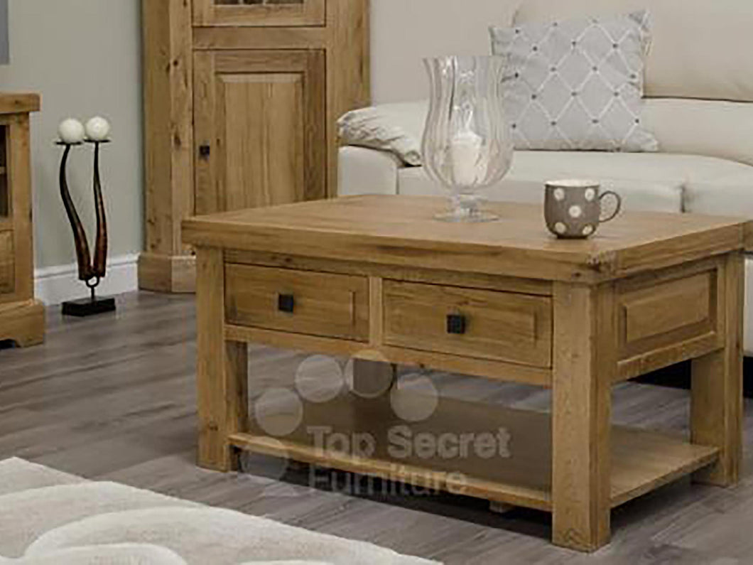 100% solid oak furniture coffee table