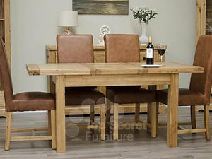 Dalton Butterfly Extending Table- 100% solid oak furniture