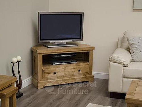 Dalton Corner TV Unit - 100% solid oak furniture