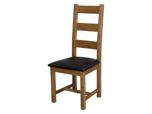 Dalton Ladder Back Dining Chair - 100% solid oak furniture