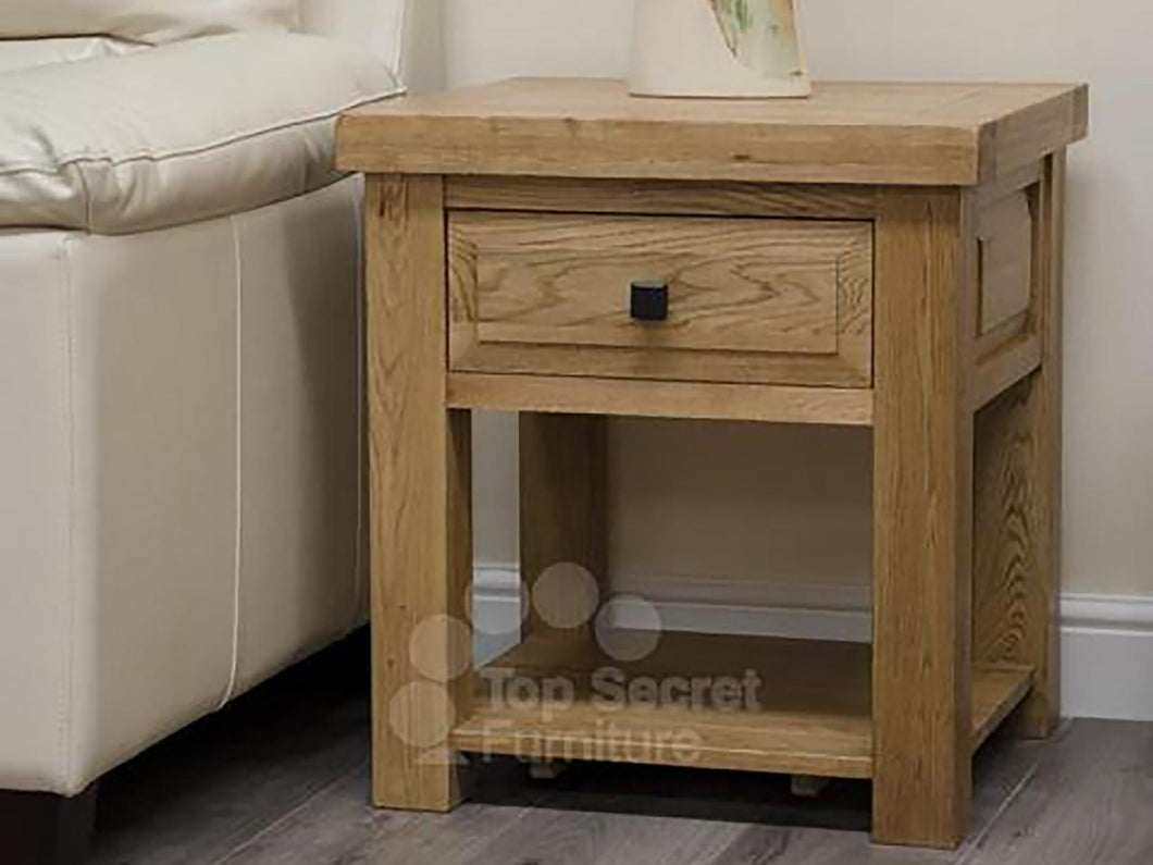 100% solid oak furniture, Dalton Lamp Table