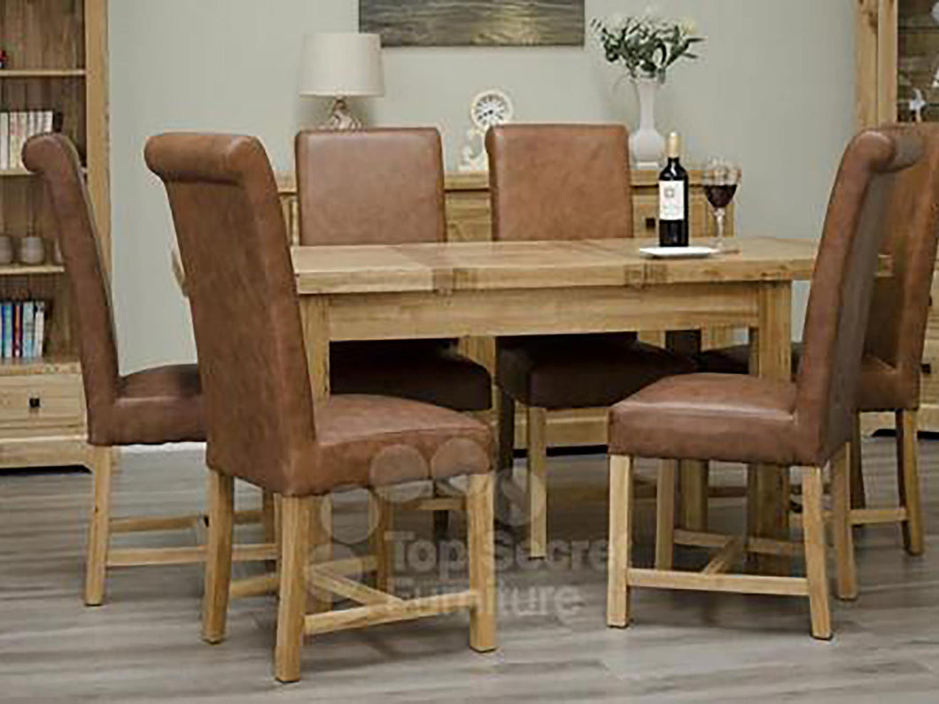 100% solid oak furniture Dalton Large Rectangular Dining Table