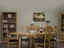 Load image into Gallery viewer, 100% solid oak furniture Dalton Oval Extending Dining Table