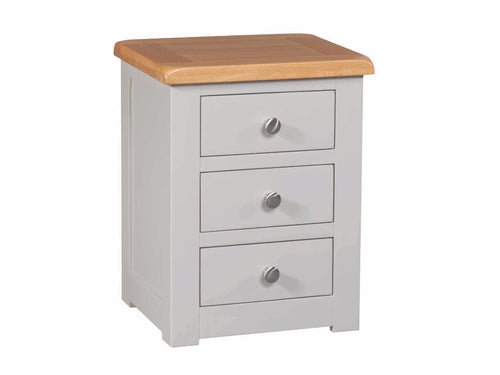 Stone 3 Drawer Bedside