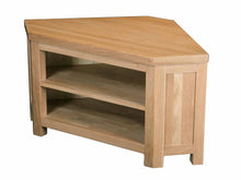 Load image into Gallery viewer, Eton Solid Oak Corner TV Unit