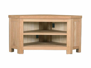 Eton Solid Oak Corner TV Unit