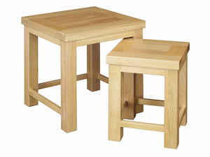 Eton Solid Oak Nest of 2 Tables