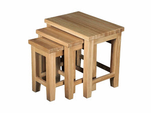 Eton Solid Oak Nest of Tables from Top Secret Furniture