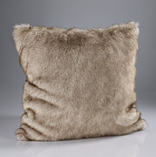 Katrina Hampton faux fur and boudoir cushions from Top Secret Furniture
