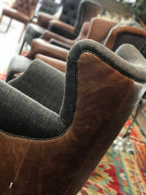Load image into Gallery viewer, Arm Chairs low back and high back leather and fabric