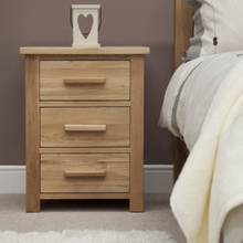 Load image into Gallery viewer, Oxford 3 Drawer Bedside Cabinet