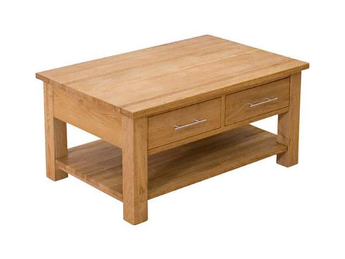 Oxford Coffee Table with Drawers 100% Solid Oak from Top Secret Furniture