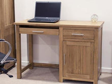 Load image into Gallery viewer, Small Oxford computer office desk or home desk 100% Solid Oak from Top Secret Furniture