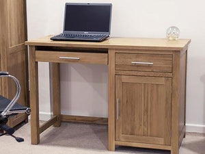 Small Oxford computer office desk or home desk 100% Solid Oak from Top Secret Furniture