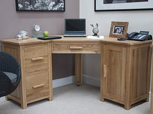 Load image into Gallery viewer, Corner Computer Office desk or Home desk 100% Solid Oak from Top Secret Furniture