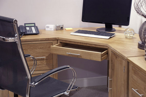 Corner Computer Office desk or Home desk 100% Solid Oak from Top Secret Furniture