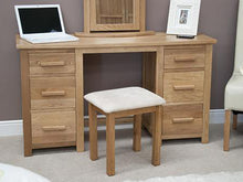 Load image into Gallery viewer, Oxford Dressing Table (Twin Pedestal) with Stool