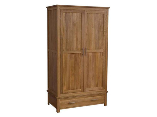 Oxford Gents Wardrobe 100% Solid Oak from Top Secret Furniture