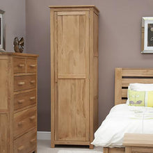 Load image into Gallery viewer, Oxford Single Wardrobe 100% Solid Oak from Top Secret Furniture