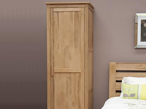 Oxford Single Wardrobe 100% Solid Oak from Top Secret Furniture