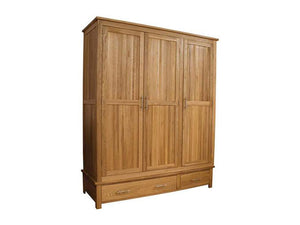 Oxford Triple Wardrobe 100% Solid Oak from Top Secret Furniture