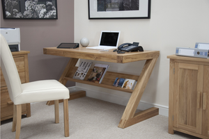 Oxford Z Office desk or Home desk - Solid Oak Wood Range