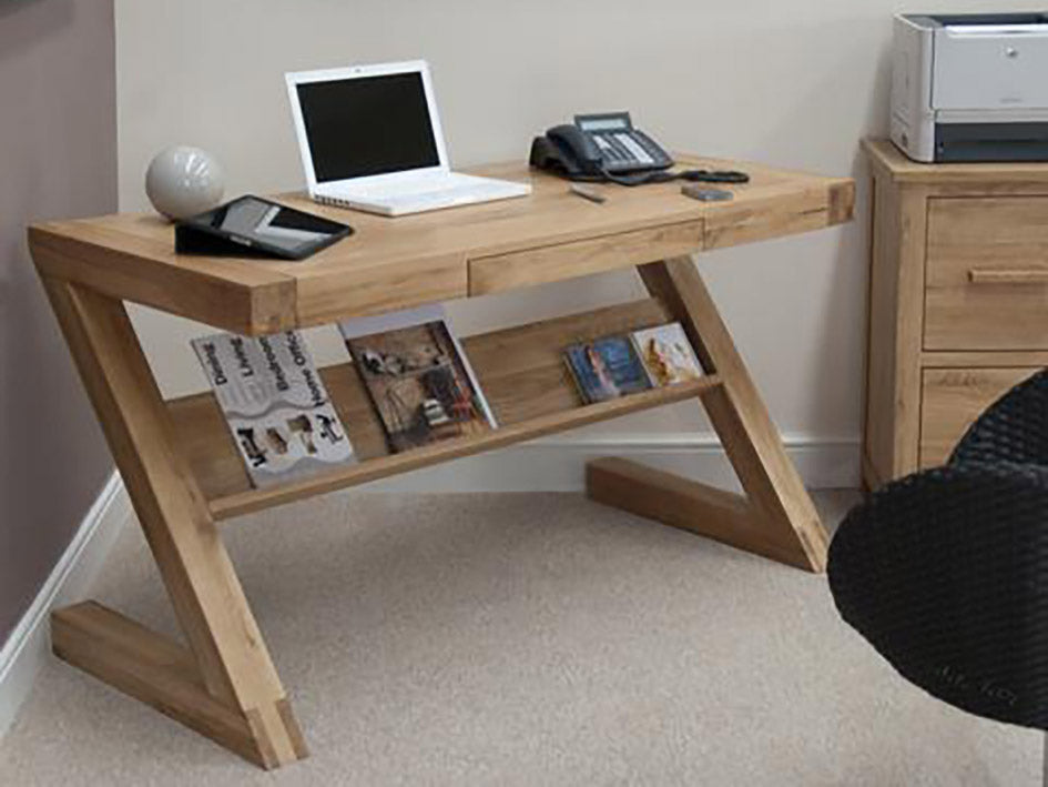Z Office desk or Home desk - Solid Oak Wood Range