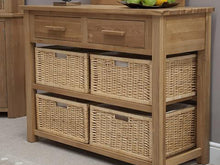 Load image into Gallery viewer, Oxford Basket Hall Console 100% Solid Oak from Top Secret Furniture