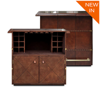 Load image into Gallery viewer, Panama Cognac Leather home Bar counter from Top Secret Furniture