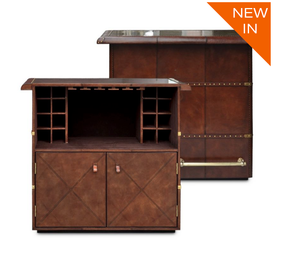 Panama Cognac Leather home Bar counter from Top Secret Furniture