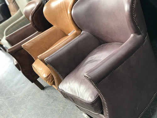 Reader Chair - Halo Professor Leather Armchairs