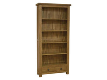 Load image into Gallery viewer, Large Rustic Bookcase Solid Oak Furniture