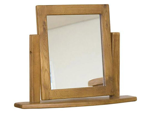 Rustic Dressing Table Mirror - Solid Oak Furniture