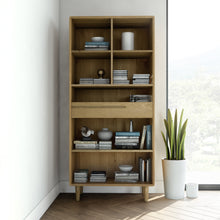 Load image into Gallery viewer, Nordic Scandinavian Large Oak Bookcase Furniture from Top Secret Furniture