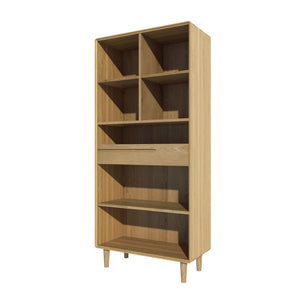 Nordic Scandinavian Large Oak Bookcase Furniture from Top Secret Furniture