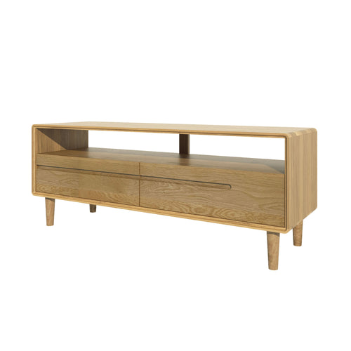 Nordic Scandic Oak Furniture, medium TV unit - from Top Secret Furniture