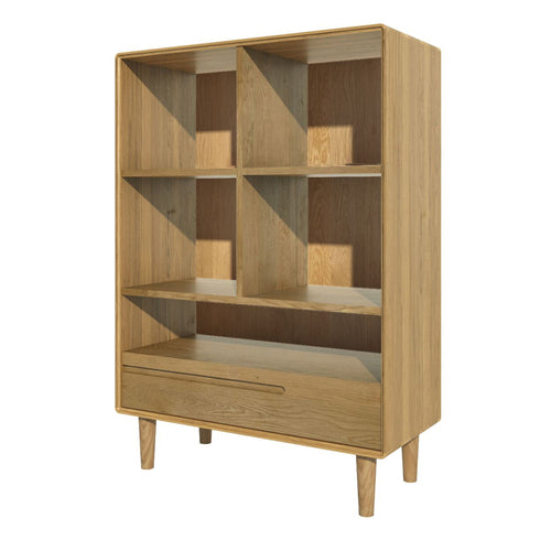 Nordic Scandinavian small  Oak Bookcase Furniture from Top Secret Furniture