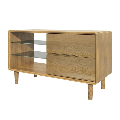 Nordic Scandic Oak Furniture, small TV unit - from Top Secret Furniture