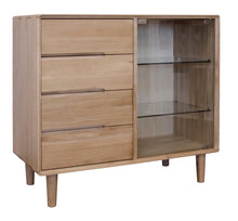 Load image into Gallery viewer, Nordic Scandic Oak Furniture small glazed chest from Top Secret Furniture