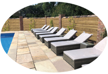 Load image into Gallery viewer, Rattan Sunbed Garden Loungers