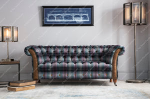 Balmoral 3 seater sofa in Moorland Tweed or Hunting Lodge Tweed